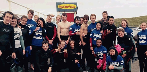StudentLife Surfs in Lahinch