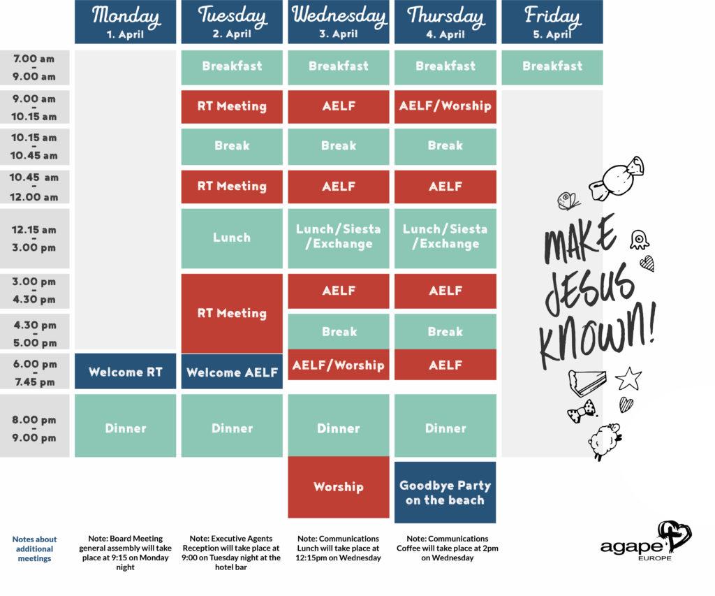 AELF 2019 Schedule